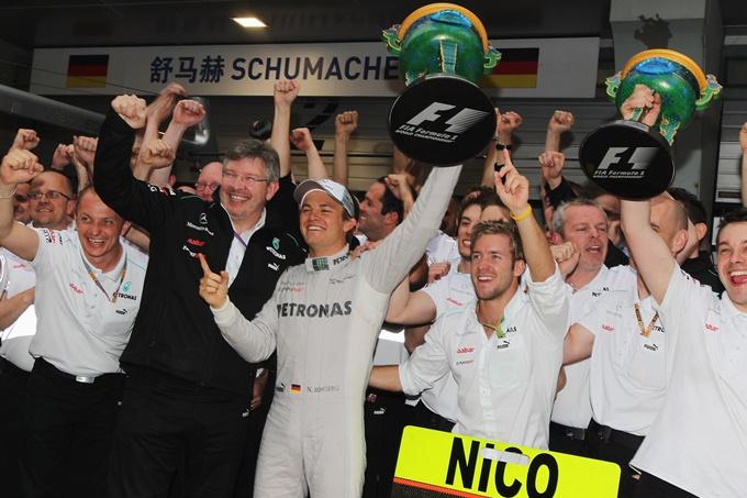 Первая победа Росберга в карьере на Гран-при Китая