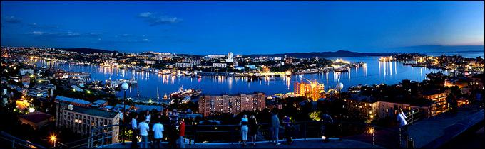 Вечерняя панорама Владивостока