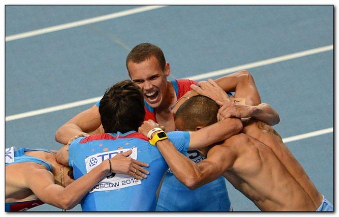 Самая неожиданная медаль пришла в мужской эстафете 4х400 метров
