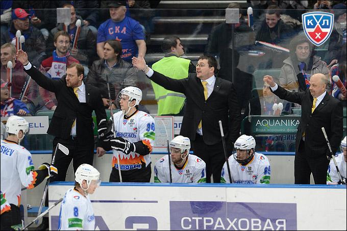 """Игорь Петров (крайний справа) в """"Северстали"""" не первый год"""