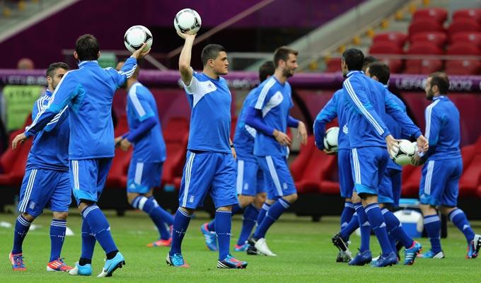 Тренировка сборной Греции