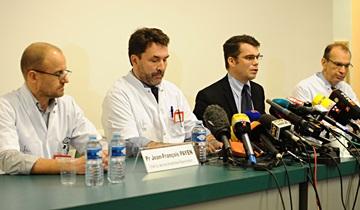 Пресс-конференция днём в понедельник