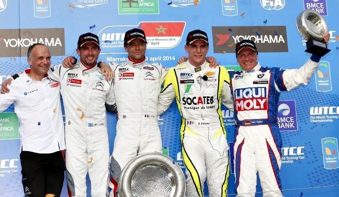 Подиум второй гонки WTCC в Марракеше