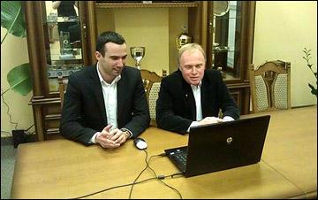 Генеральный директор клуба Алексей Торбин и Александр Мушта отвечают на вопросы болельщиков
