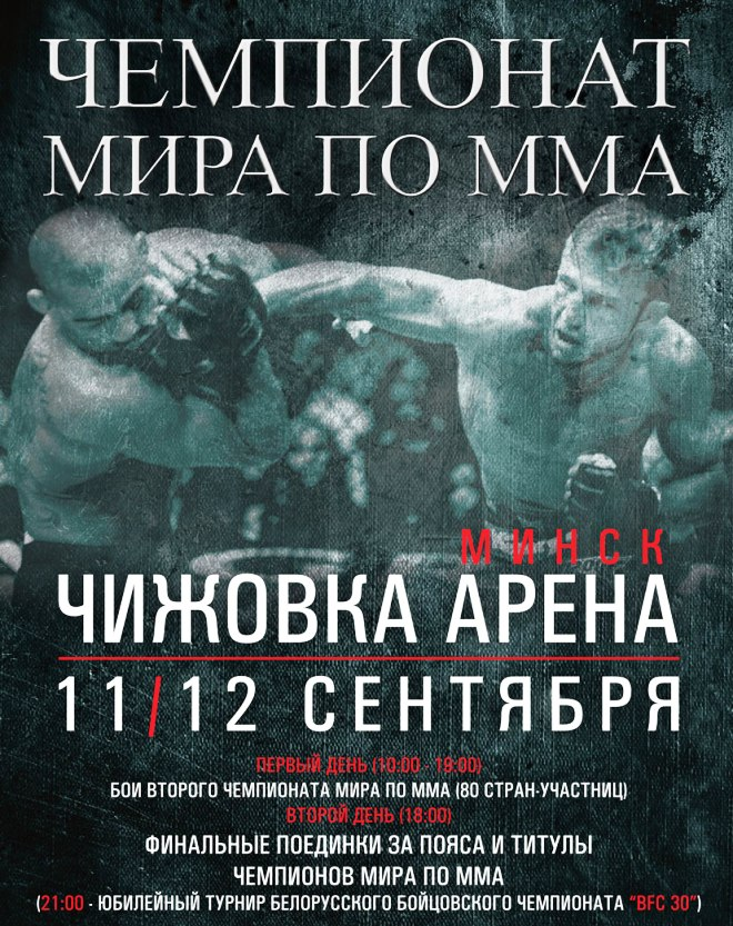 Постер к чемпионату мира по ММА