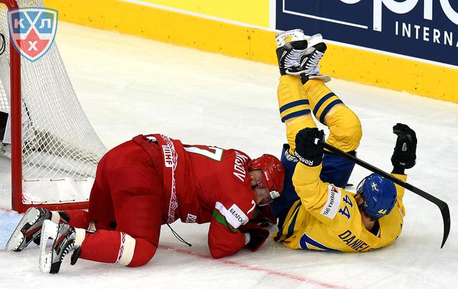 Фрагмент матча Швеция — Белоруссия