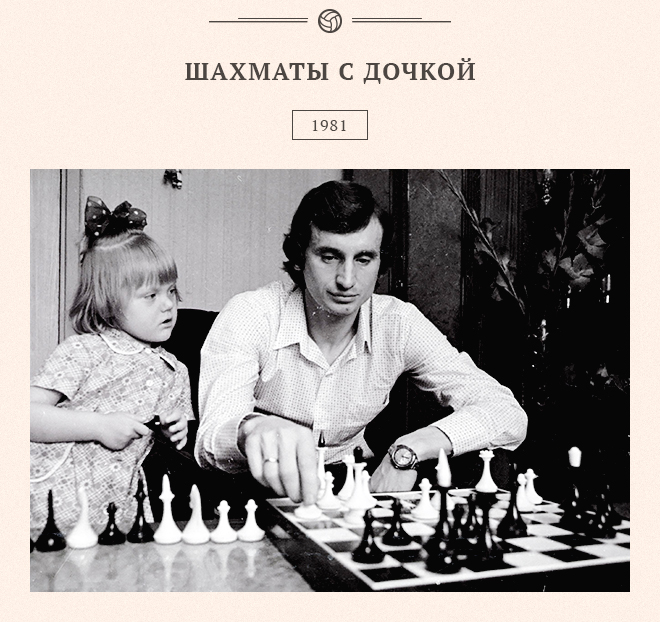 Шахматы с дочкой. 1981