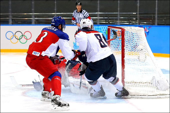 19 февраля 2014 года. Сочи. XXII зимние Олимпийские игры. Хоккей. 1/4 финала. США — Чехия — 5:2