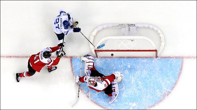 13 февраля 2014 года. Сочи. XXII зимние Олимпийские игры. Хоккей. Групповой этап. Финляндия — Австрия — 8:4