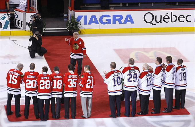 """Бобби Халл на праздновании 20-летия одного из величайших """"райвалри"""" НХЛ """"Чикаго"""" — """"Монреаль"""""""