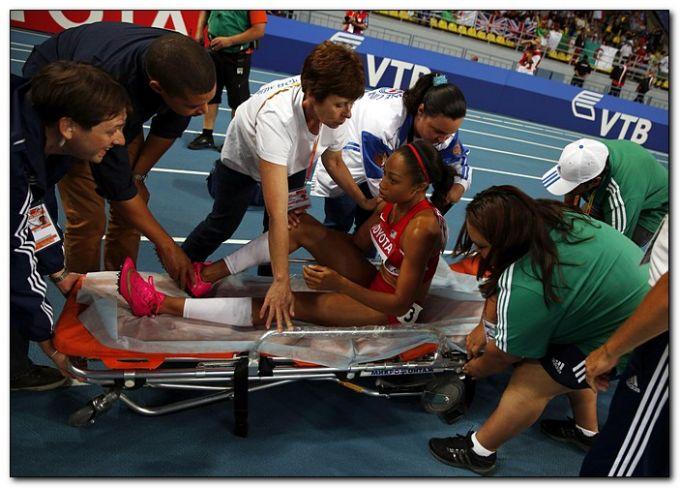 Эллисон Феликс так и не закончила дистанцию в беге на 200 метров