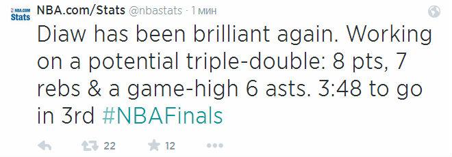 Борис Диао постепенно подбирается к трипл-даблу. Тот может стать первым в нынешнем финале для любого из игроков.