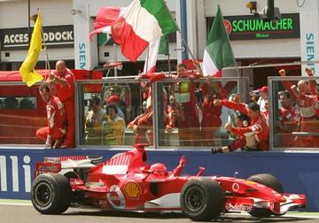 Михаэль Шумахер — победитель Гран-при Франции-2006