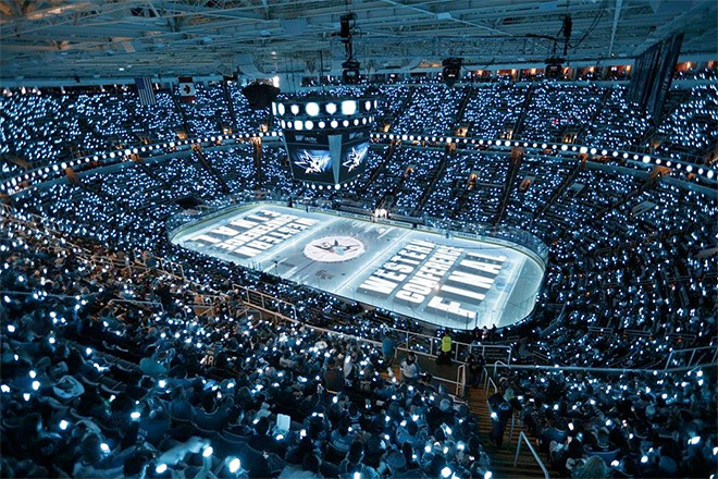 Арена «Сан-Хосе» во время финала Конференции