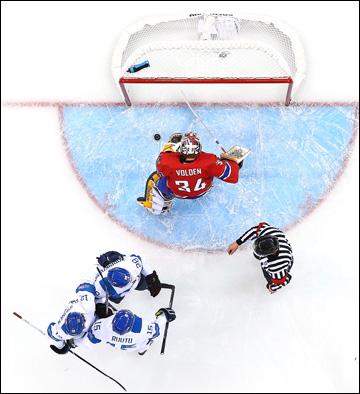 14 февраля 2014 года. Сочи. XXII зимние Олимпийские игры. Хоккей. Групповой этап. Норвегия — Финляндия — 1:6