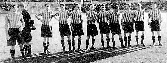 Футбольная команда ЦСК ВВС. Евгений Бабич — третий справа