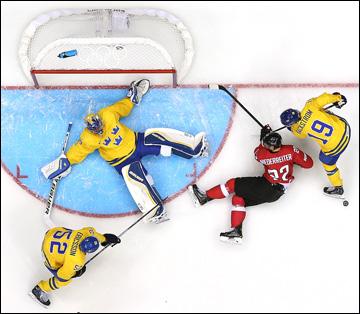 14 февраля 2014 года. Сочи. XXII зимние Олимпийские игры. Хоккей. Групповой этап. Швеция — Швейцария — 1:0