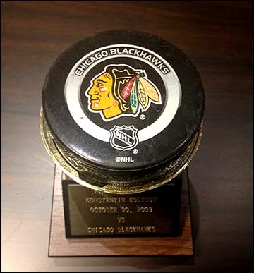 Первая заброшенная в НХЛ шайба Константина Кольцова