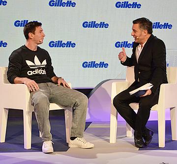 Компания Gillette в воскресенье в Барселоне представила своего нового международного посла
