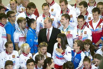 Призёры Универсиады-2013 на встрече с президентом РФ