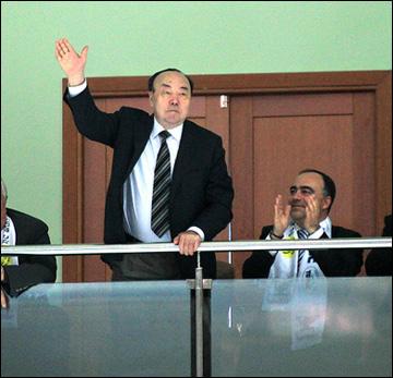 Муртаза Рахимов — уже не президент, но всё равно болельщик № 1 всех башкирских хоккейных команд
