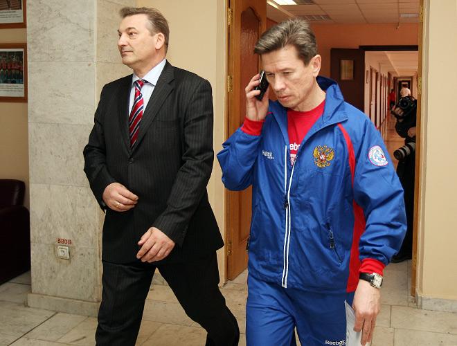 Владислав Третьяк и Вячеслав Быков