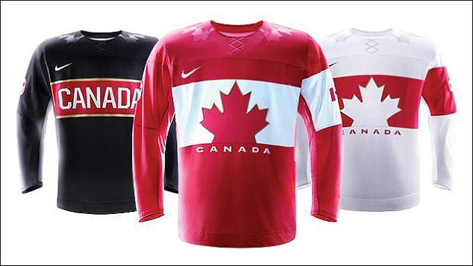 Игровая форма сборной Канады на Олимпиаде в Сочи