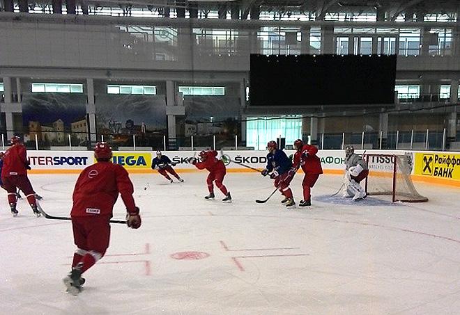 Вчерашняя тренировка сборной России
