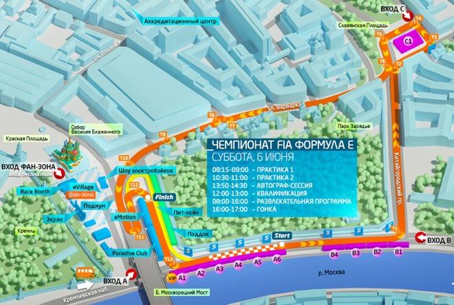 Схема московской трассы Формулы-Е