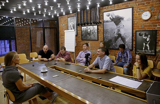 Светлана Кузнецова и журналисты «Чемпионата»