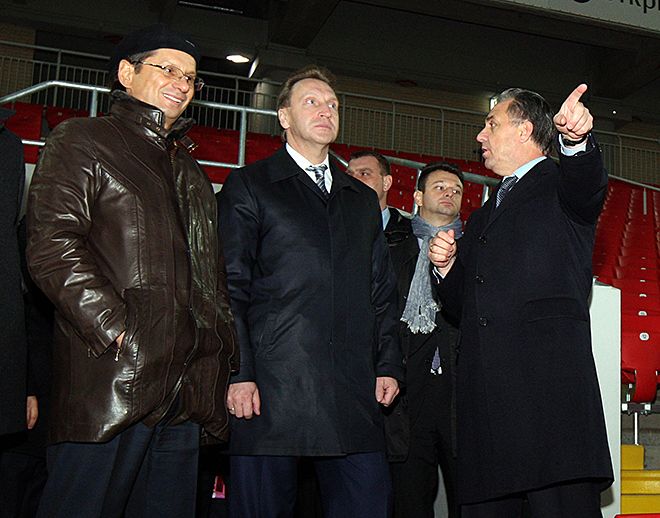 Леонид Федун, Игорь Шувалов и Виталий Мутко