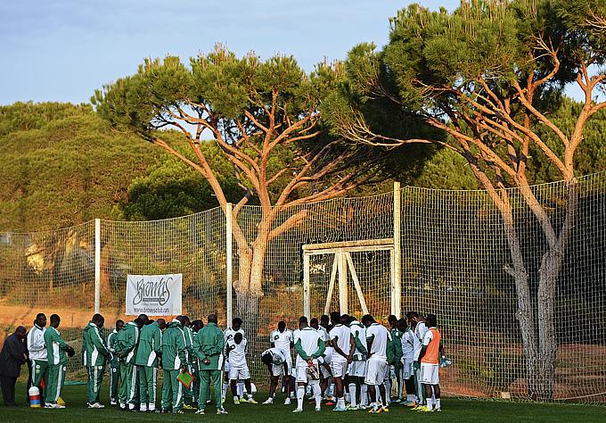 Тренировка сборной Нигерии