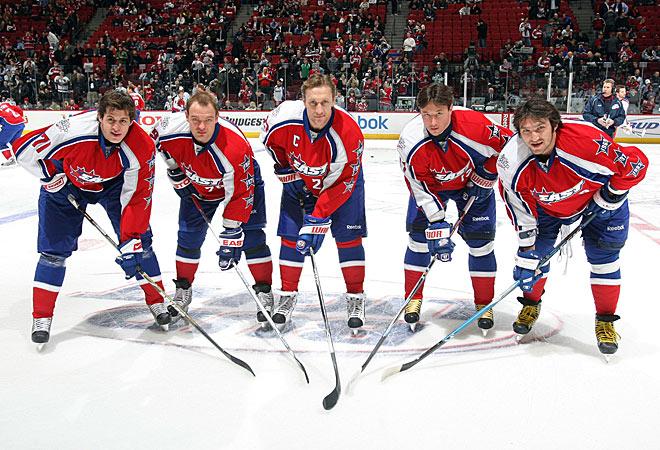 МВЗ-2009: Евгений Малкин, Андрей Марков, Алексей Ковалёв, Илья Ковальчук и Александр Овечкин
