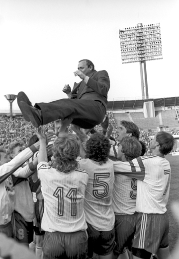 Олег Романцев после победы в финальном матче Кубка СНГ над ЦСКА. 1992 год