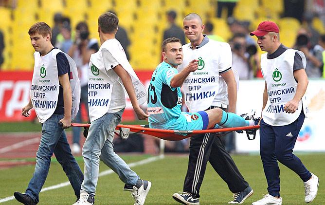 Игорь Акинфеев дважды уже пострадал от Веллитона…