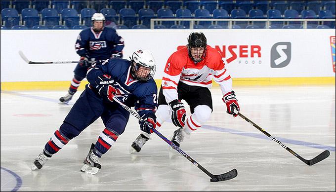 20 апреля 2012 года. Брно. Юниорский чемпионат мира. 1/2 финала. США — Канада — 2:1
