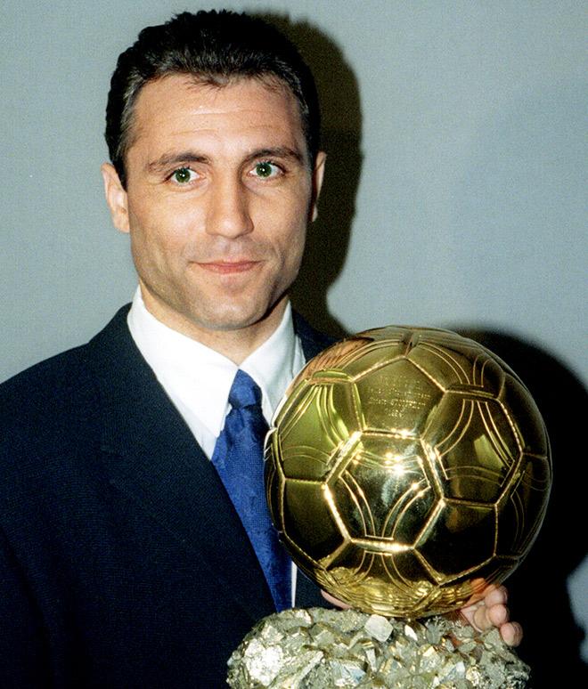 Христо Стоичков с «Золотым мячом»