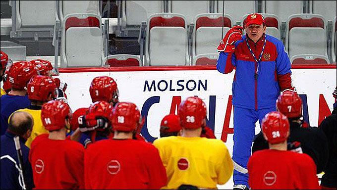 Тренировка сборной России перед матчем со сборной Швеции