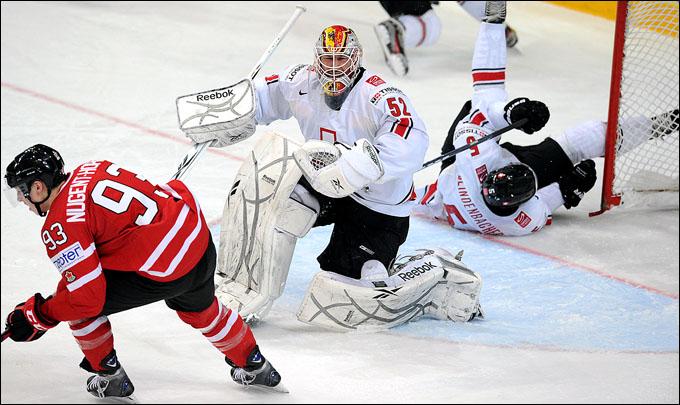 9 мая 2012 года. Хельсинки. Чемпионат мира. Групповой турнир. Канада — Швейцария — 3:2