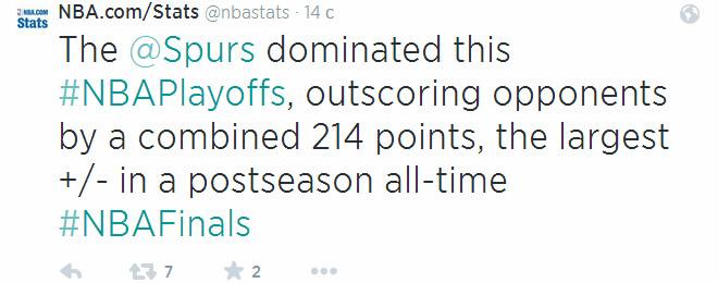 """«Сан-Антонио» выиграли чемпионский титул, привезя соперникам """"+214"""" в плей-офф. Это лучший результат в истории плей-офф НБА!"""