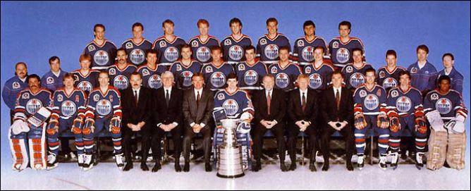 "Обладатели Кубка Стэнли 1990 года – ""Эдмонтон Ойлерз""."