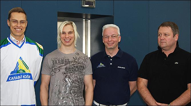 Слева направо: Александер Стубб, Антти Пильстрём, Илари Някель и Владимир Юрзинов-младший.
