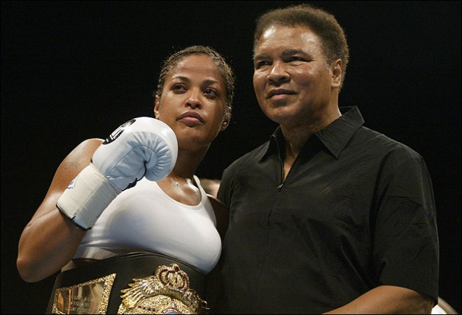 Мохаммед Али с дочерью Лейлой