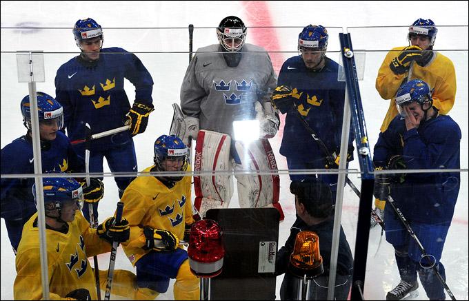 Сборная Швеции готовится к полуфиналу