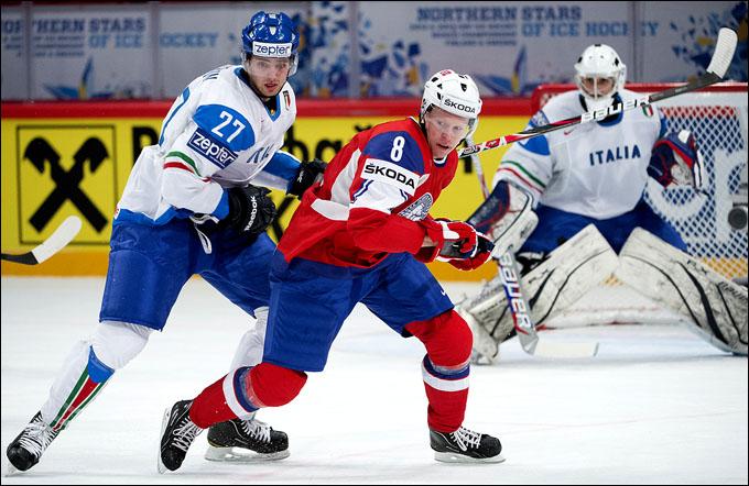 9 мая 2012 года. Стокгольм. Чемпионат мира. Групповой турнир. Норвегия — Италия — 6:2