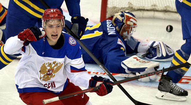 Фрагмент матча Россия — Швеция