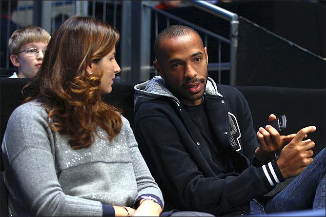 Федерер и Анри побывали на матче Лиги чемпионов.