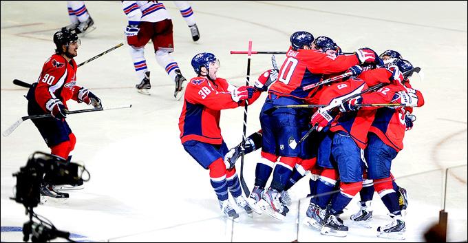 """4 мая 2013 года. Вашингтон. Плей-офф НХЛ. 1/8 финала. Матч № 2. """"Вашингтон"""" — """"Рейнджерс"""" — 1:0 (ОТ). Есть вторая победа """"столичных""""!"""