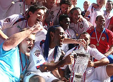 Футболисты ЦСКА с Кубком России-2008/09
