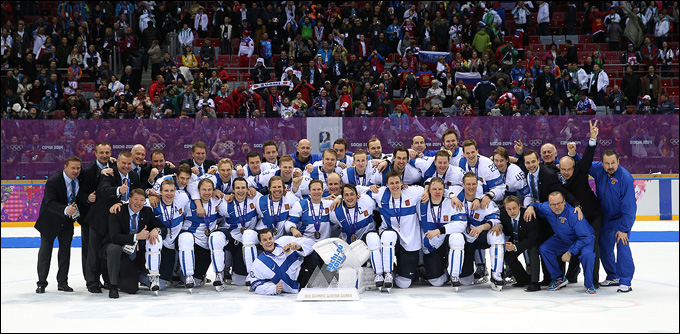 Сборная Финляндии — бронзовый призер Олимпиады-2014